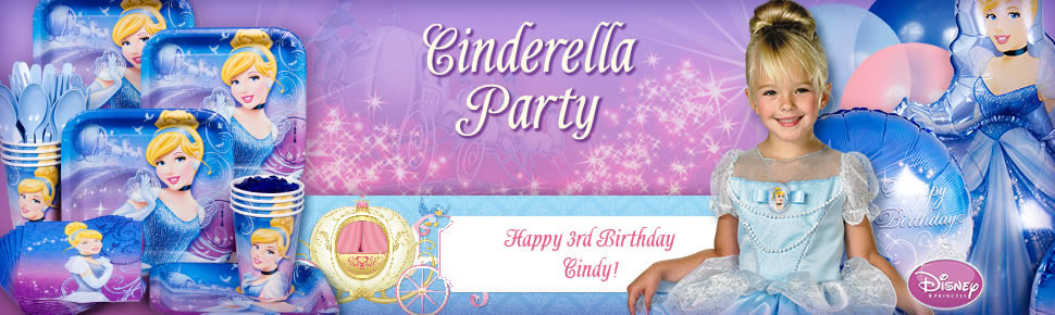 Bộ Khăn Giấy Sinh Nhật Công Chúa Cinderella-16 cái cỡ nhỏ