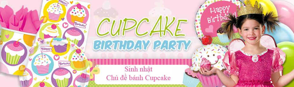 Bộ Khăn Giấy Chủ Đề Cupcake (16 khăn cỡ lớn)