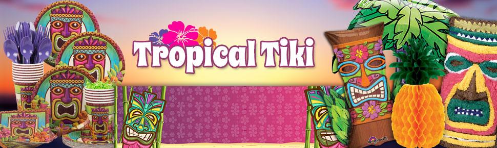 Bộ Khăn Giấy Chủ Đề Tropical Tiki (125 khăn cỡ nhỏ)