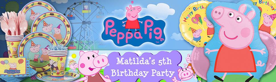 Chùm Bóng Trang Kim 3 Tuổi Chủ Đề Peppa Pig (5 quả)